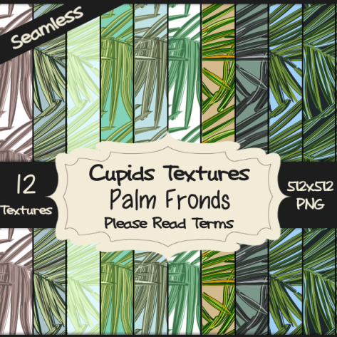 12 PALM FRONDS